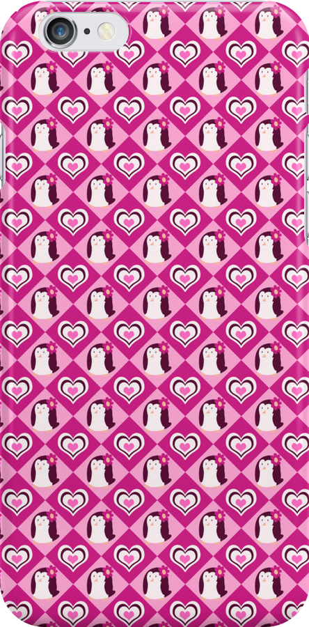 Penguin Hearts Pattern by SaradaBoru