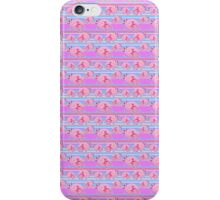 Pink Axolotl Striped Pattern iPhone Case/Skin