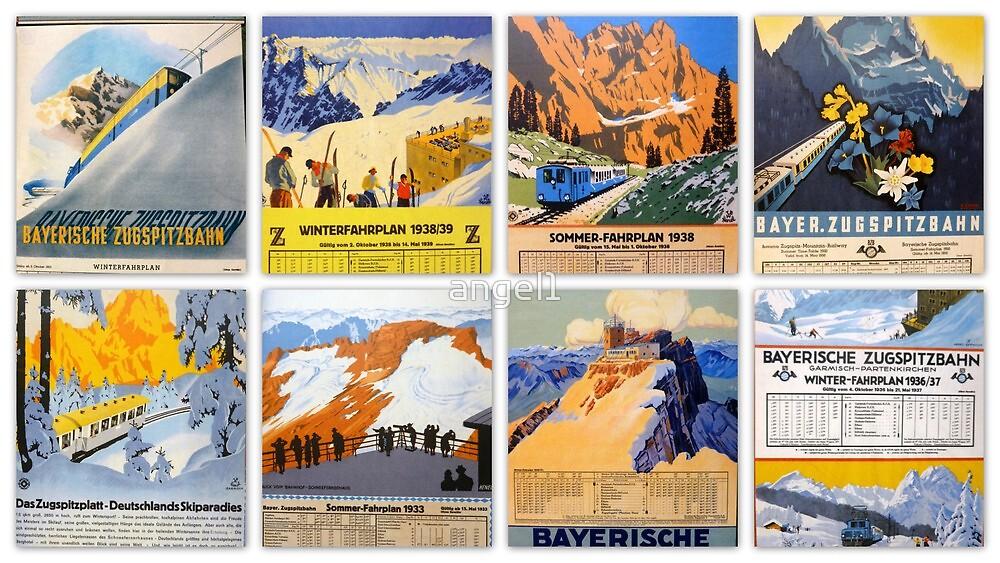 Bayerische Zugspitzbahn ~ historical postcard collection by ©The Creative  Minds