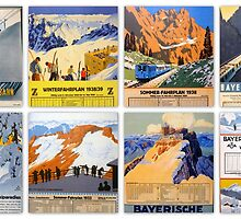 Bayerische Zugspitzbahn ~ historical postcard collection by ©The Creative  Minds