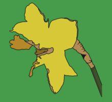 Torn Daffodil One Piece - Short Sleeve