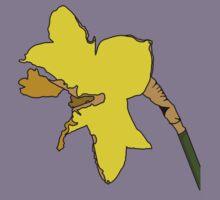 Torn Daffodil Kids Tee