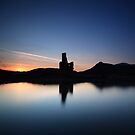 Ardvreck Castle at Sunset by Maria Gaellman