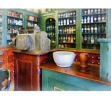 Mortar and Pestle in Pharmacy Photographic Print