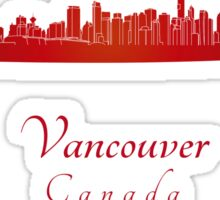 Vancouver skyline in red Sticker