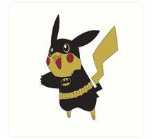 Pikachu batman Art Print