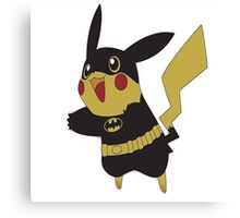 Pikachu batman Canvas Print