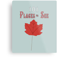 101 Places To See Metal Print
