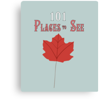 101 Places To See Canvas Print