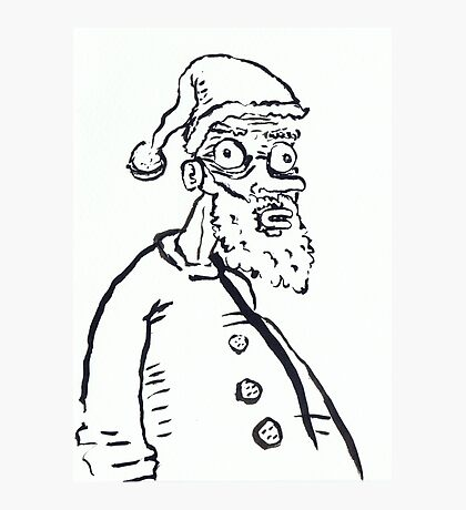 Ugly Santa 1 Photographic Print