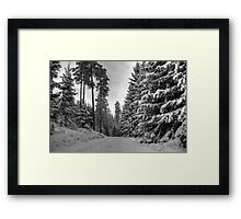 Winter in Forsheda's track II Framed Print