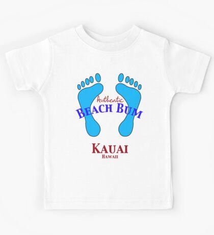 Authentic Beach Bum Kauai Hawaii Kids Tee