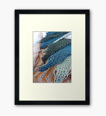 Knitted Designs  Framed Print