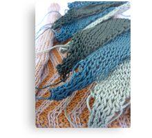 Knitted Designs  Metal Print