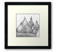 Pear Minimum  Framed Print