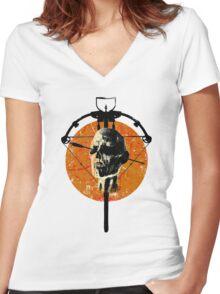 Dead Walking Women's Fitted V-Neck T-Shirt