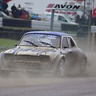 Ford Escort Mk1 Belgian Rallycross at Lydden Hill in the rain by motapics