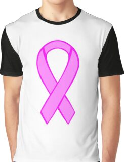 Breast Cancer Ribbon Graphic T-Shirt