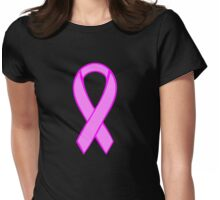 Breast Cancer Ribbon Womens Fitted T-Shirt
