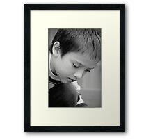 Pensive... Framed Print