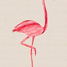 Pink Flamingo by Fiona Christensen