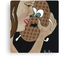 Oh, waffles!  Canvas Print