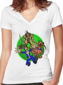 Dogmeat Doo! Women's Fitted V-Neck T-Shirt