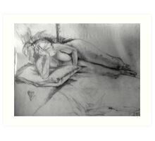 Life Drawing Study 9. Art Print