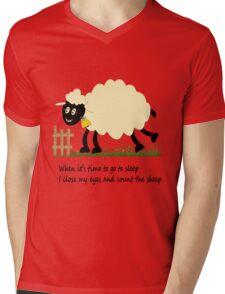 Little Sheep Mens V-Neck T-Shirt