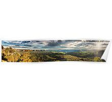 Blue Mountains autumn panorama Poster
