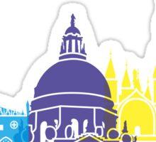 Venice skyline pop Sticker
