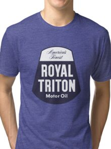 Vintage Royal Triton Motor Oil Tri-blend T-Shirt