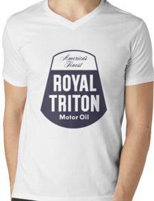 Vintage Royal Triton Motor Oil Mens V-Neck T-Shirt