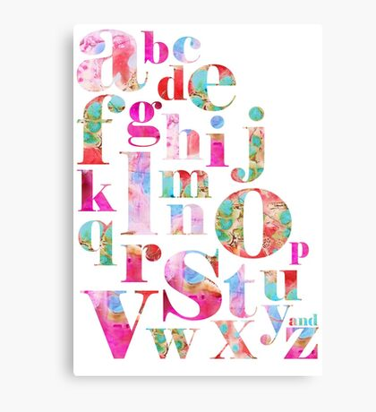 Pink Alphabet Canvas Print