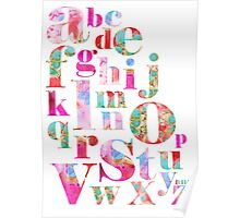 Pink Alphabet Poster