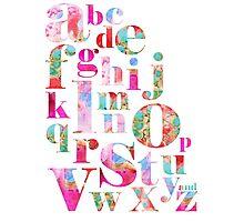 Pink Alphabet Photographic Print