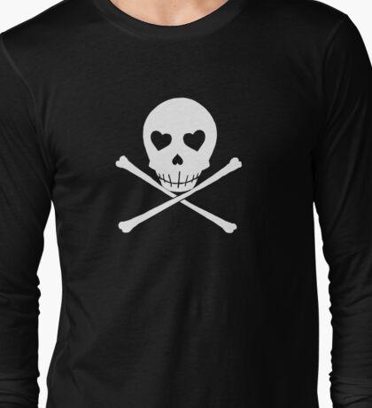 Persona 4 Kanji Tatsumi skull shirt (heart eyes) Long Sleeve T-Shirt