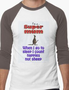 SUPER MUM ONE Men's Baseball ¾ T-Shirt