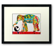 E is for Elephant Framed Print