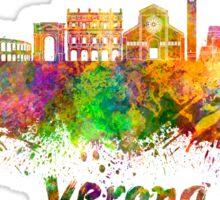 Verona skyline in watercolor Sticker