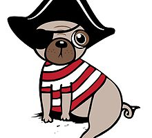 Pirate Pug by Amy Grace