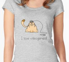 Gamer cat Women's Fitted Scoop T-Shirt