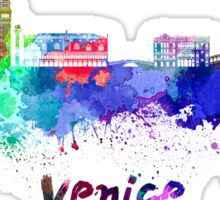 Venice skyline in watercolor Sticker