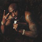 2Pac Album Photo Cover Painting by art-hammer