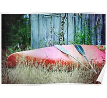 A Canoe in the Grass Poster