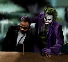 Dark Knight Heath Ledger Joker Painting by art-hammer