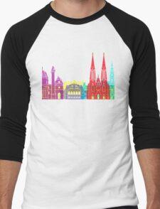 Vienna skyline pop Men's Baseball ¾ T-Shirt