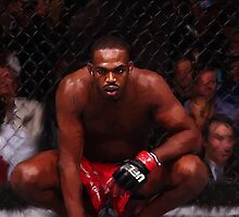 MMA Fighter Jon Jones Digital Painting by art-hammer