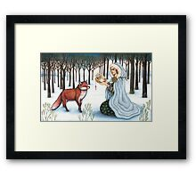 The Gift of Time to the Red King Framed Print