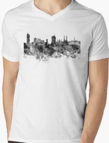 Vienna skyline in black watercolor Mens V-Neck T-Shirt